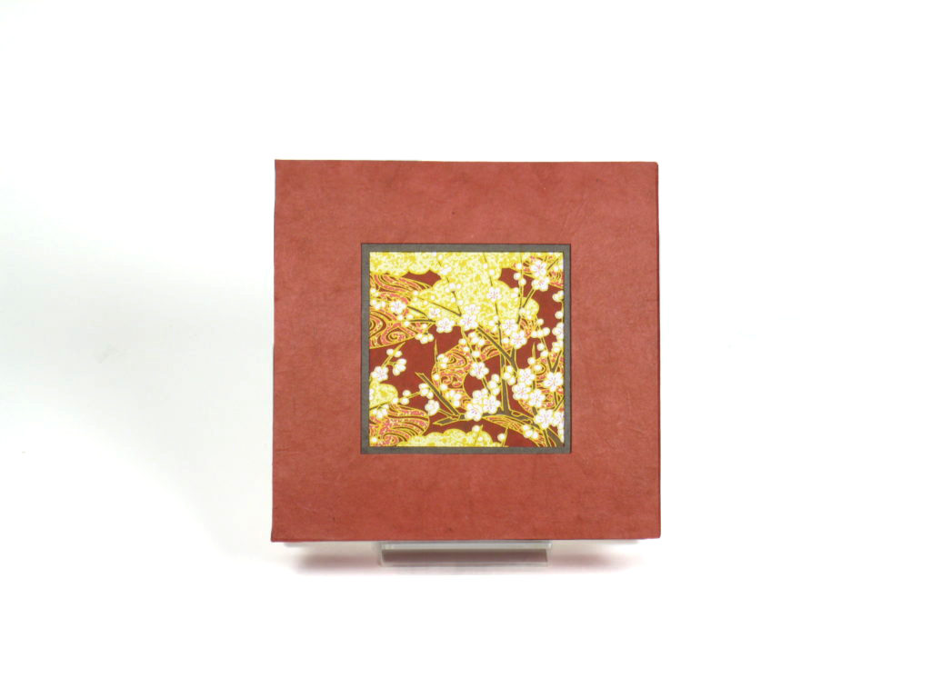 Large square box with blossoms