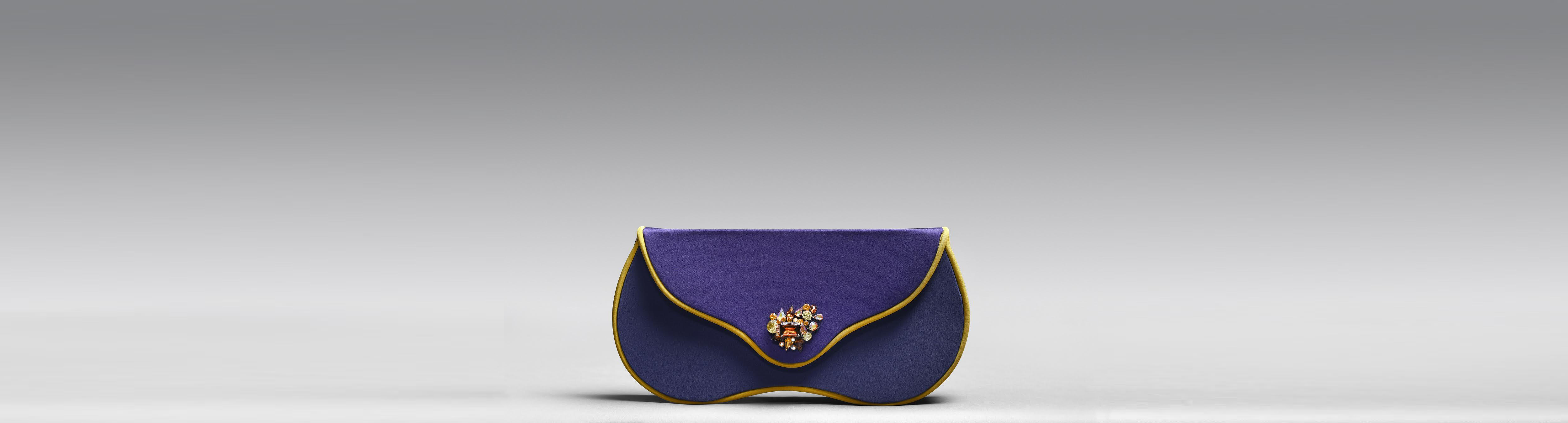 KOTI purple clutch